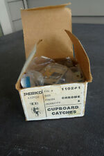 1980's NOS BOXED 5 FIVE Perko 1102 #1-CHROME Cupboard Catches MARINE MADE IN USA