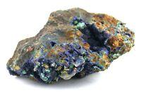 Azurite Natural Malachite Pyrite Host Rock Specimen Gemstone Gem Stone AMS2