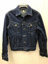 VTG Mens Dark Denim Jean Jacket LEE Patd 153438 Made in USA Sz 34R XS