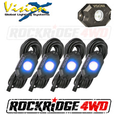VISION X 9 WATT LED ROCK LIGHT 4 POD KIT / BLUE - HIL-RL4B JEEP TRUCK UTV