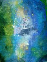 "50"" Original Painting Modern Contemporary Art OUT OF THE BLUE"