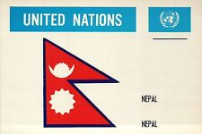 Nepal --- Flags of the World --- United Nations, Nations Unies, UN Postcard