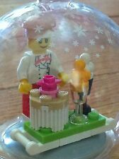 *BRAND NEW* Lego Minifig FEMALE CHEF & DESSERT TRAY Hanging CHRISTMAS ORNAMENT