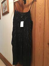 Robe noire de H & M Taille 12 RRP £ 29.99