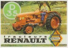 carte postale - TRACTEUR RENAULT D35 de 1956