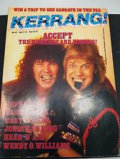 Kerrang! Magazine #117, 1986 Accept, Jeff Beck, Castle Black KERRANG