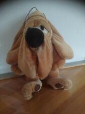 Peluche doudou adorable chien basset Sherlock Holmes vintage 30 cm