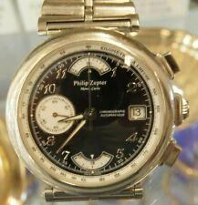 Philip Zepter Automatik Herrenuhr HAU, Model:Monte-Carlo, Edelstahl Chronograph