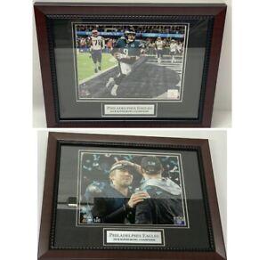 Lot 2x Nick Foles & Carson Wentz Philadelphia Eagles Super Bowl LII Framed Photo