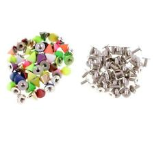 50 Sets 8x7mm Colorful Alloy Cone Screw Studs Leathercraft Rivet Spikes DIY