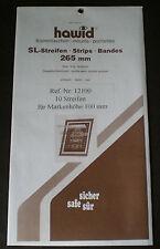 Hawid Stamp Mounts Size 100/265 BLACK Background Pack of 10