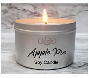 APPLE PIE Soy Wax Tin Candle | Fall Autumn Cinnamon Buttery
