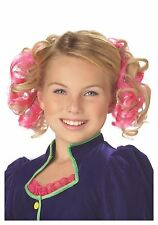 """Girls """" CURLY CLIPS """" Hair Extension Synthetic 2 Clips / Package Pink CA Costume"""