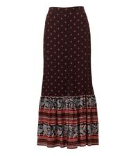 Sportsgirl Gypsy Stardust Maxi Button Front Skirt Multi-coloured Size 10 Tag
