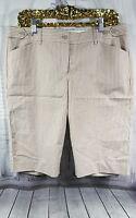Express Design Studio EDITOR White Beige Capri Career Dress Pants Shorts Sz 10
