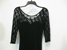 H&M Divided NWT  Black Lace Bodycon Dress Lace 3/4 Sleeve Size 4