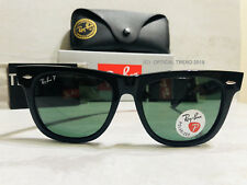 New Ray-Ban Orginal Wayfarer rb2140 901/58 54mm Black Frame Green Lens Polarized