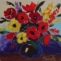 Lena Tants Original Acrylic Painting on Canvas Hand Signed W/COA.