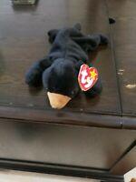 BLACKIE THE BEAR BEANIE BABY - VERY RARE - MANY ERRORS