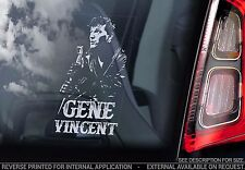 Gene Vincent - Car Window Sticker - Country Rock & Roll Music Rockabilly Sign