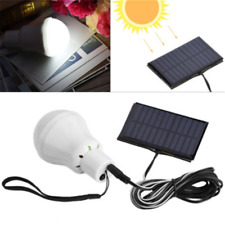 12 LED Portable Solar Powered Rechargeable Bulb Light Outdoor Camping Yard Lamp