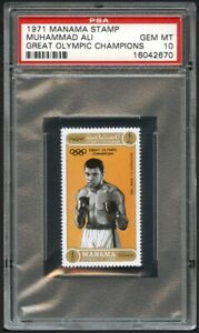 1971 Manama Stamp Cassius Clay Muhammad Ali PSA 10 GEM MINT Olympics boxing card