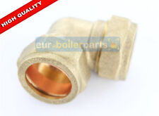 22mm Brass Compression 90 Elbow
