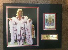 WWE WWF WCW NWA Ric Flair 11X14 Matted WITH Namplate PHOTO AUTOGRAPH 1982 JSA