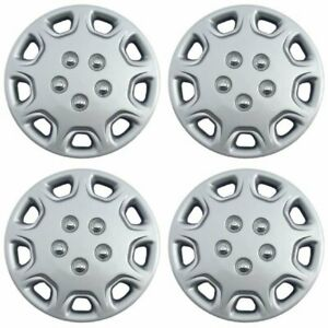 "4 Piece Set of A/M Silver ABS Fits 98-00 Honda Civic 14"" Wheel Hub Caps"