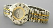 MUST DE CARTIER 21 MEN'S WATCH BAND & CASE 17mm STAINLESS STEEL AND GOLD PLATED