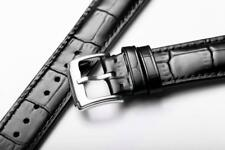 ITALIAN GENUINE BLACK LEATHER WATCH STRAP SIZE 18MM-16MM 20MM 21MM 22MM longines