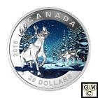 2016 'The Caribou - Geometric Art' $20 Silver Coin 1oz .9999 Fine *NoTax (17625)