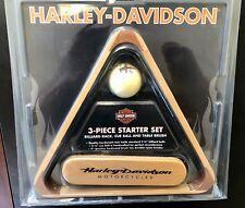 Harley-Davidson 3-Pc. Wooden Billiard/ Pool Table Accessories Set