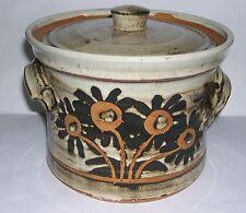 Alan Frewin Millhouse Pottery - Stylish Lidded Twin Handled Tureen .