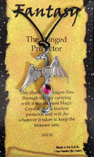 "NEW ARRIVAL Pewter ""DRAGON"" Necklace 20"" Black Cord  ""The Winged Protector"""