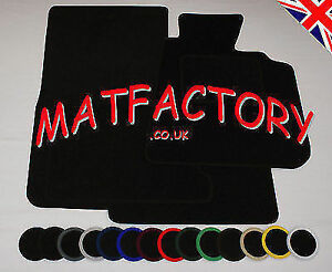 TVR GRIFFITH 1994-2000 black tailored car mats T11 COLOURED BINDING