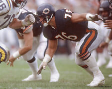 STEVE McMICHAEL 1988 CHICAGO BEARS LINE 8X10 PHOTO