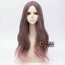Ombre Pink Mixed Gray Lolita 65cm Wavy Curly Heat Resistant Party Cosplay Wig