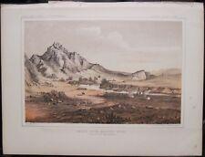 Antique Print USPRR Survey BEAR'S TEETH  Missouri River Helena Great Falls MT