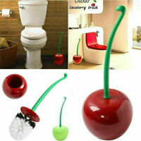 Cherry Shape Toilet Brush Holder Free Set Standing Cleaning Bathroom Lavatory