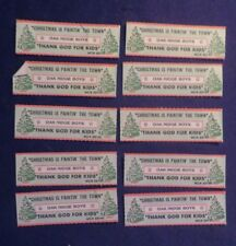Lot of 10 XMAS Jukebox Tags 45 RPM Title Strips ELMO & PATSY #10-EP 1/2