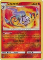 Chandelure 13/145 SM Guardians Rising Reverse Holo Rare Pokemon Card MINT TCG