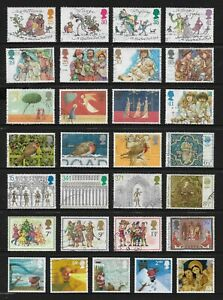 GREAT BRITAIN, UK mixed Christmas collection No.32, decimal, used