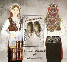 Kosovo Stamps 2017. Folk costumes of Medvegja, Etnology. Block MNH
