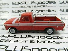 Greenlight 1:64 LOOSE Red-Orange 1975 FORD F-100 F100 EXPLORER Pickup Truck