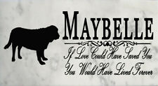 Customized If Love Could Save You Dog Memorial Outdoor Stone Select Your Breed