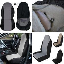 1PC Single Universal Car Seat Cover Cushion Protector Black + Gray Anti-Dust