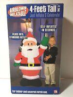 Gemmy 4 ft Waving Santa Claus Christmas Airblown Inflatable w Box 2004