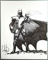 Comic Originalzeichnung | William Whilce Portacio (signiert) | BATMAN PinUp