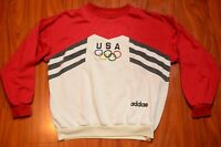 Vintage Adidas 80s USA Olympics Pullover Crewneck Trefoil Spellout Size S/M